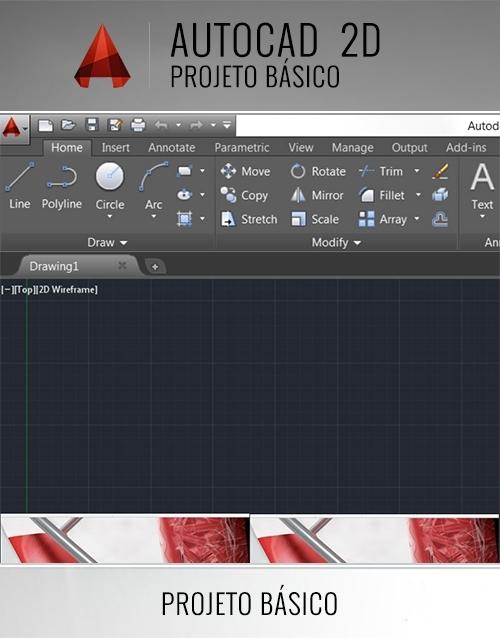 CADaula, Curso Autocad 2d - Projeto Básico